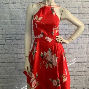 Charlotte Russe Red Floral Dress
